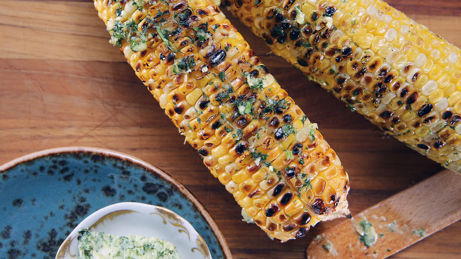 HerbButtered Corn on the Cob Recipe Buttered corn
