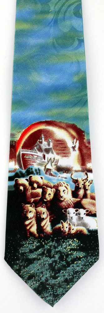 New Noahs Ark Story Mens Necktie Boat Animal Bible Religious Christian Neck Tie #StevenHarris #NeckTie
