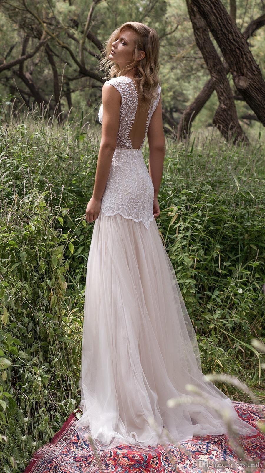 Limor rosen country wedding dresses illusion bodice jewel cap