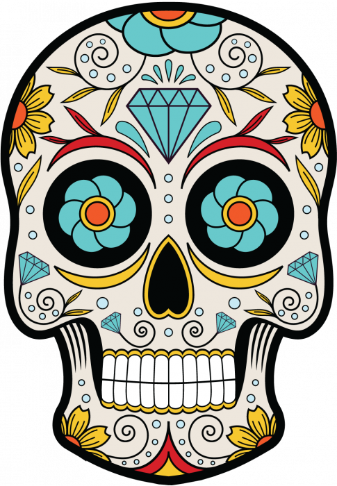 sticker calavera tete de mort mexicaine 14 mpa d co autocollants calavera. Black Bedroom Furniture Sets. Home Design Ideas