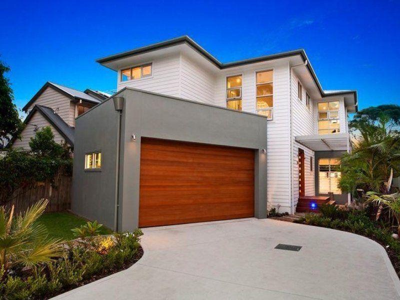 Concrete modern house exterior with balcony & decorative lighting - House  Facade photo 173285 | Houses