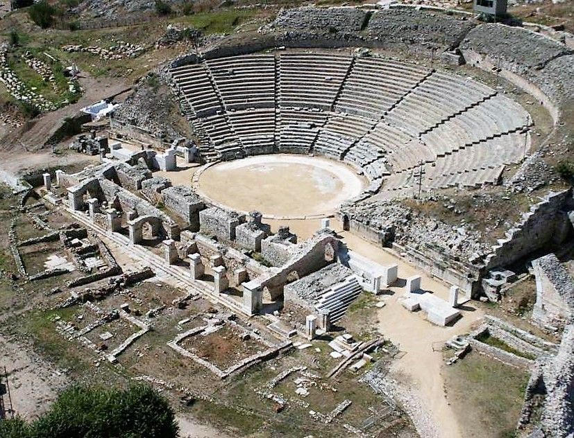 ancient theater of philippi in macedonia photo hellenic ministry