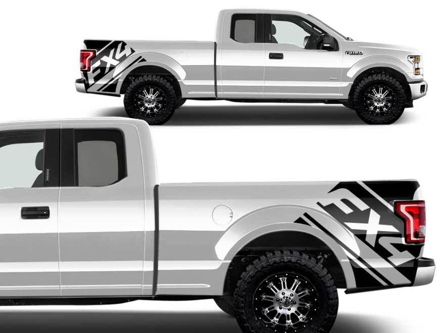 Product Ford F BedFX Graphic Decals Stickers Fits Models - F 150 2014 avec sticker