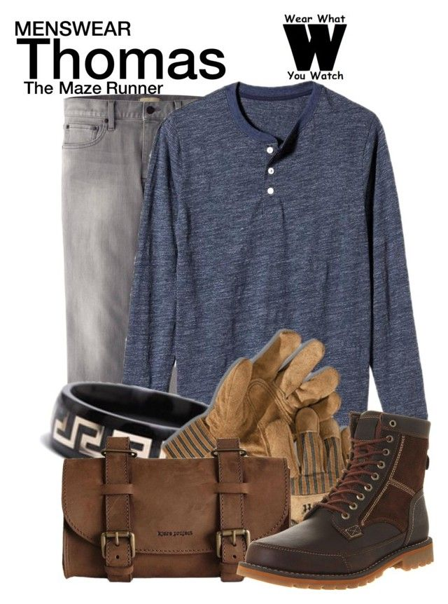 """""""The Maze Runner"""" by wearwhatyouwatch ❤ liked on Polyvore featuring Uniqlo, Old Navy, GURU, Kjøre Project, Timberland, wearwhatyouwatch, menswear and film"""