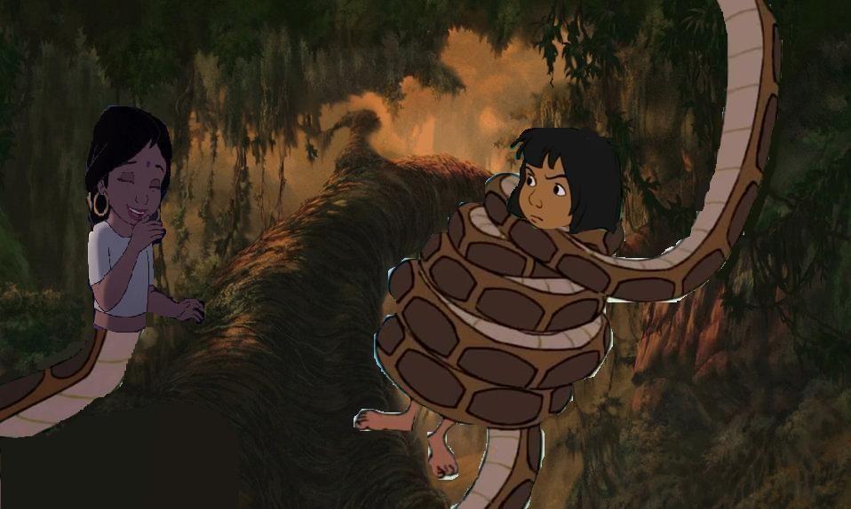 shanti the naga and mowgli by shadowninja287 mowgli was