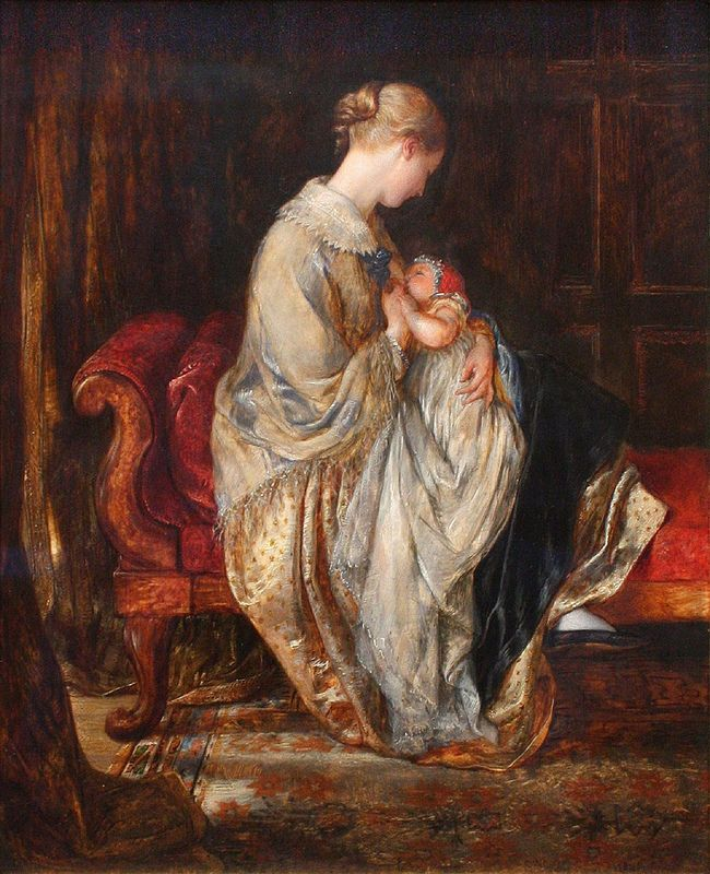 Cope, Charles West -  The Young Mother'. 1845 | da ros_with_a_prince