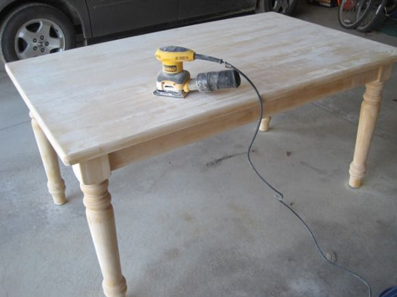 Painting a dining table and chairs
