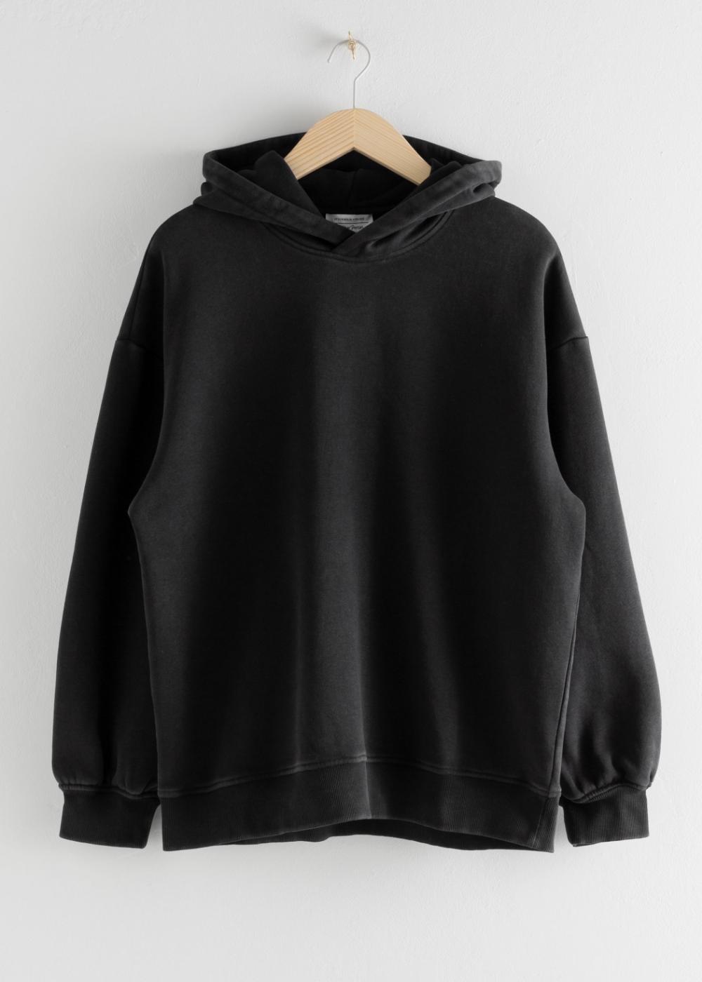 Oversized Hooded Boxy Sweatshirt In 2021 Sweatshirts Black Sweatshirt Outfit Oversize Hoodie