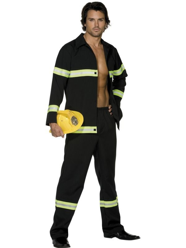 a2567c99f20c Fever Fireman Costume, Navy Blue and Yellow, Jacket and Trousers ...