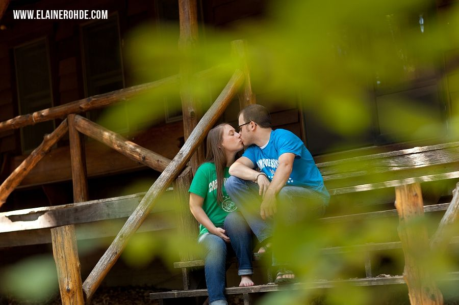 Camp Ondessonk engagement photography, summer camp, Ozark