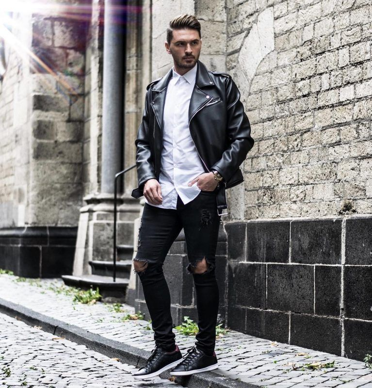 50 Best Fall Leather Jackets For Men 2018 Urban Men Outfits Fall Outfits Men Fall Leather Jacket Mens Fashion Fall