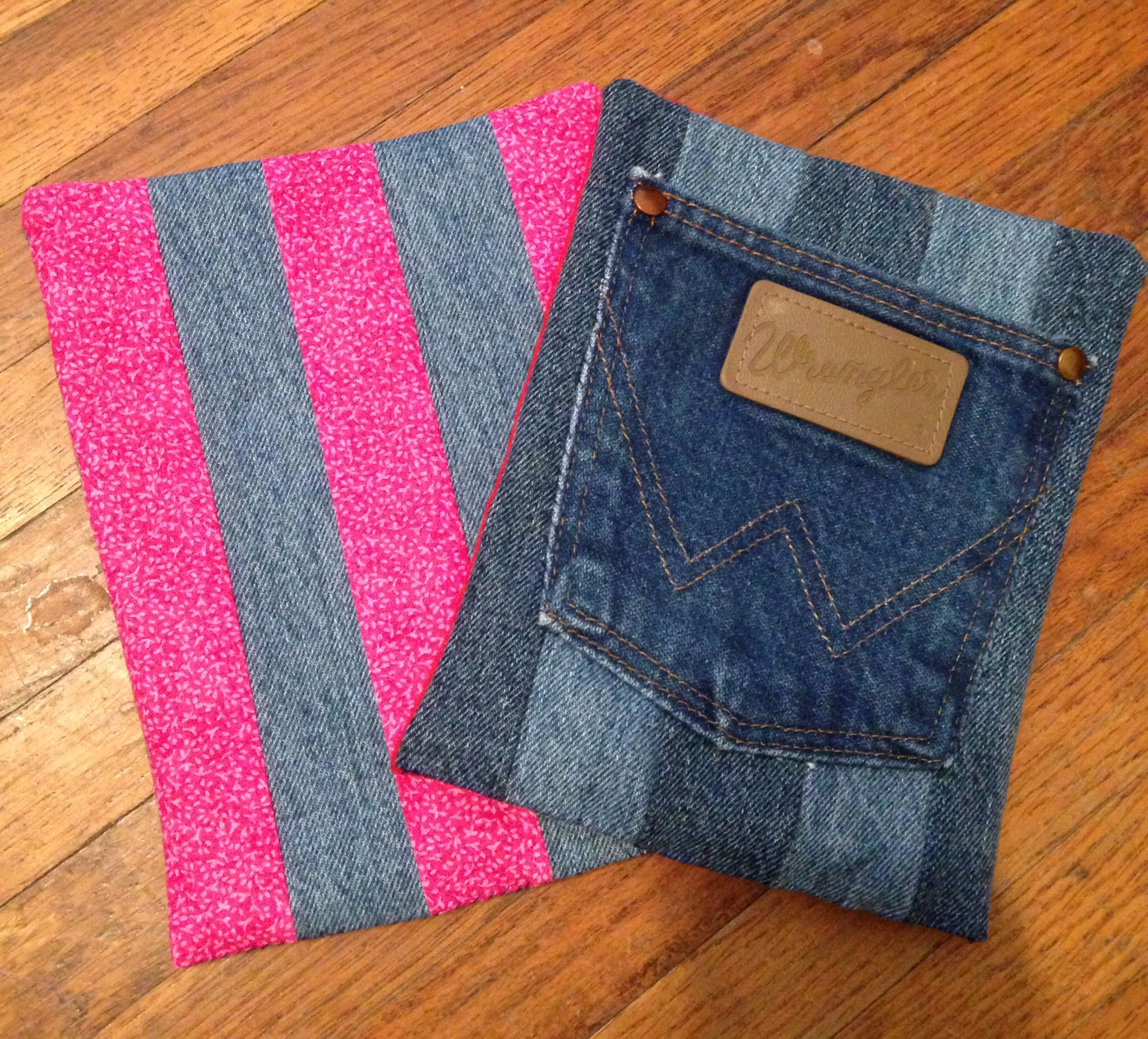 Old jean hot pads