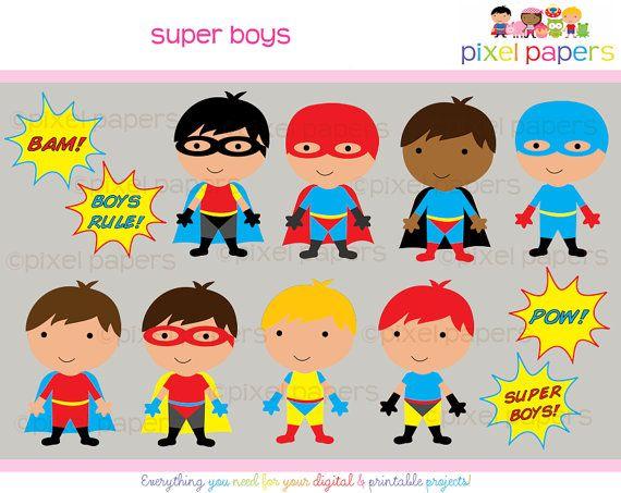 Superhero clipart digital clip art super hero boys super boys superhero clip art voltagebd Image collections