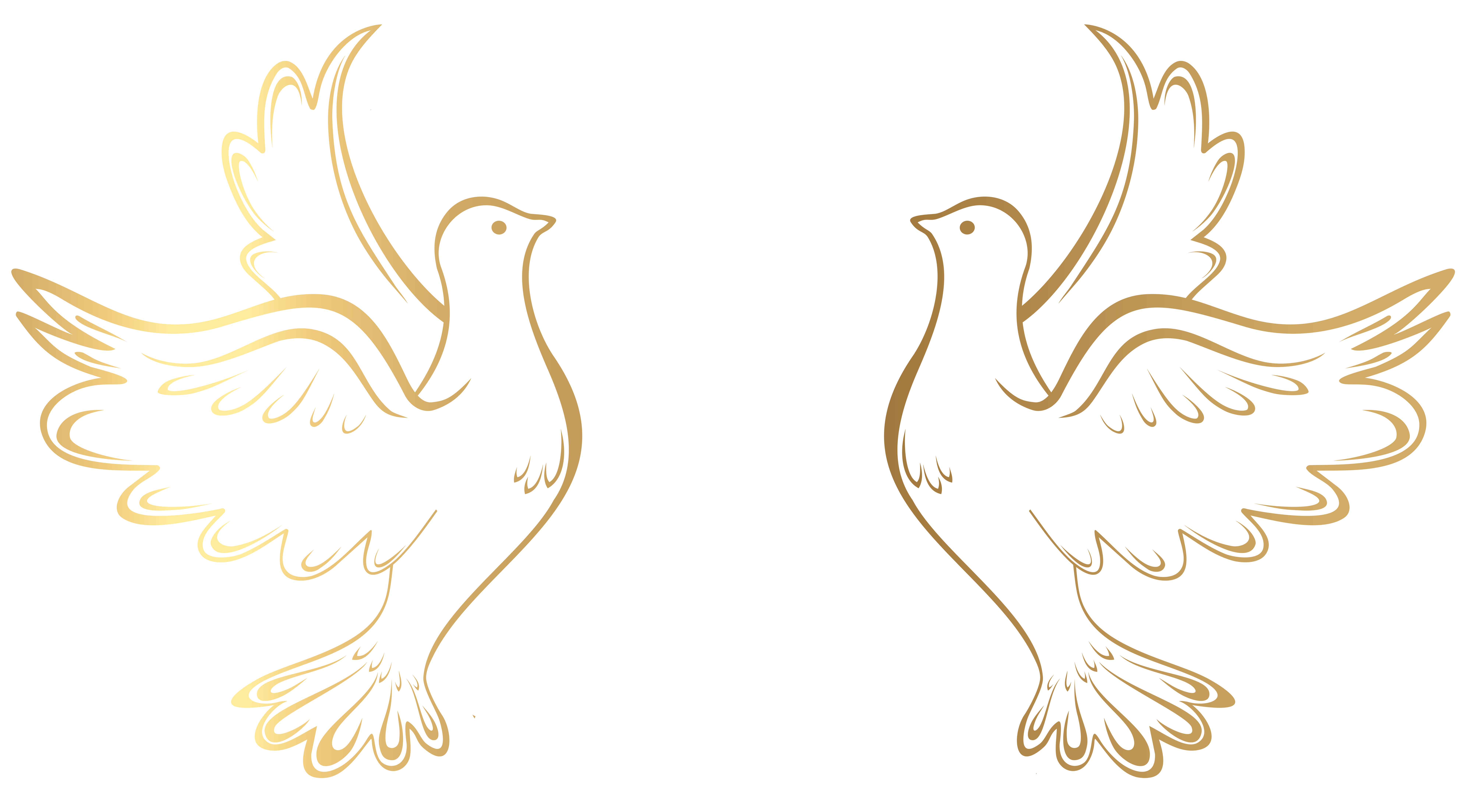Gold Doves Decoration Transparent Png Clip Art Image Gallery Yopriceville High Quality Images And Transpare Art Journal Resources Dove Images Gold Drawing
