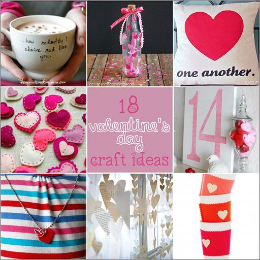 Valentine\'s Day DIY Craft Ideas via lilblueboo.com | DIY ...