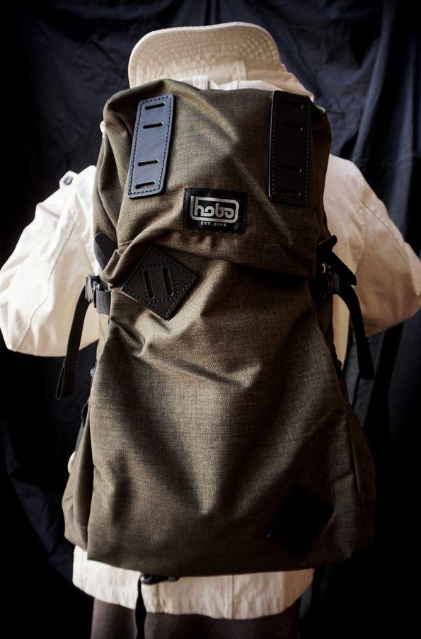 """[ hobo ] CELSPUN® Nylon """" SLOPE """" 35L Backpack by ARAITENT www.lancah.com"""