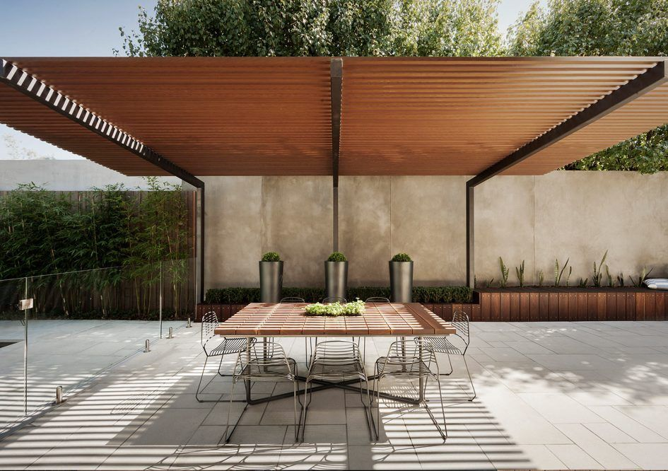 Uncategorized Modern Wood Pergola Aluminum Kit Contemporary Steel