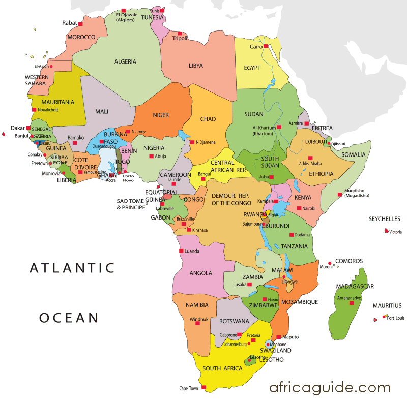 Nigeria Cartina Africa.Clickable Image Map Of Africa View Where Countries Are