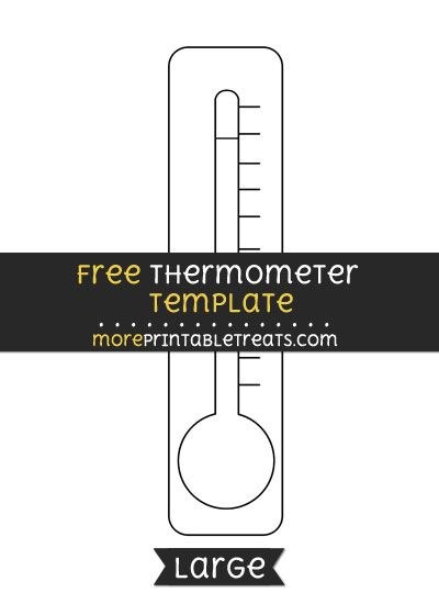 Free Thermometer Template  Large  Shapes And Templates