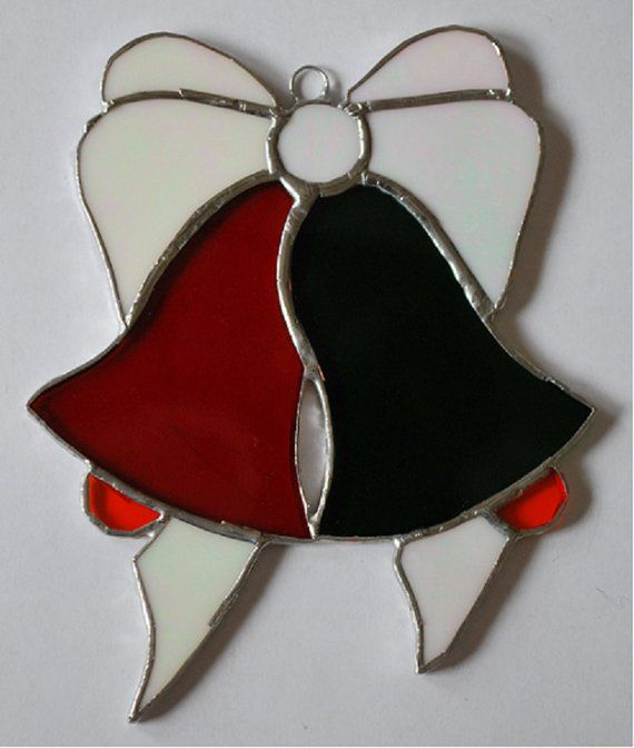 Christmas bells with ribbon Products Pinterest Stained Glass