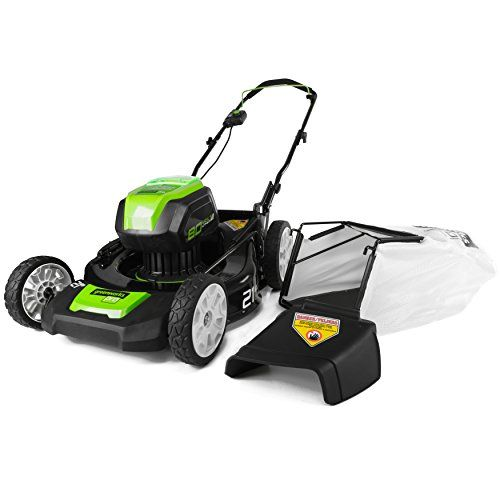Greenworks Glm801600 80v 21 Inch Cordless Lawn Mower Battery And