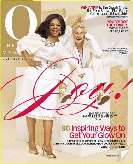 Ellen & Oprah's O Magazine Cover