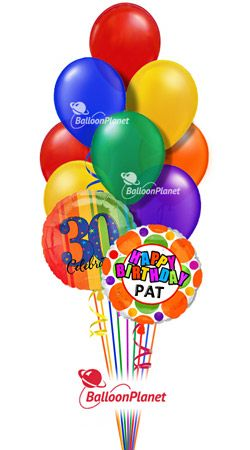 Send A Birthday Balloon Bouquet Helium Filled And Hand Delivered From 4495 Fees