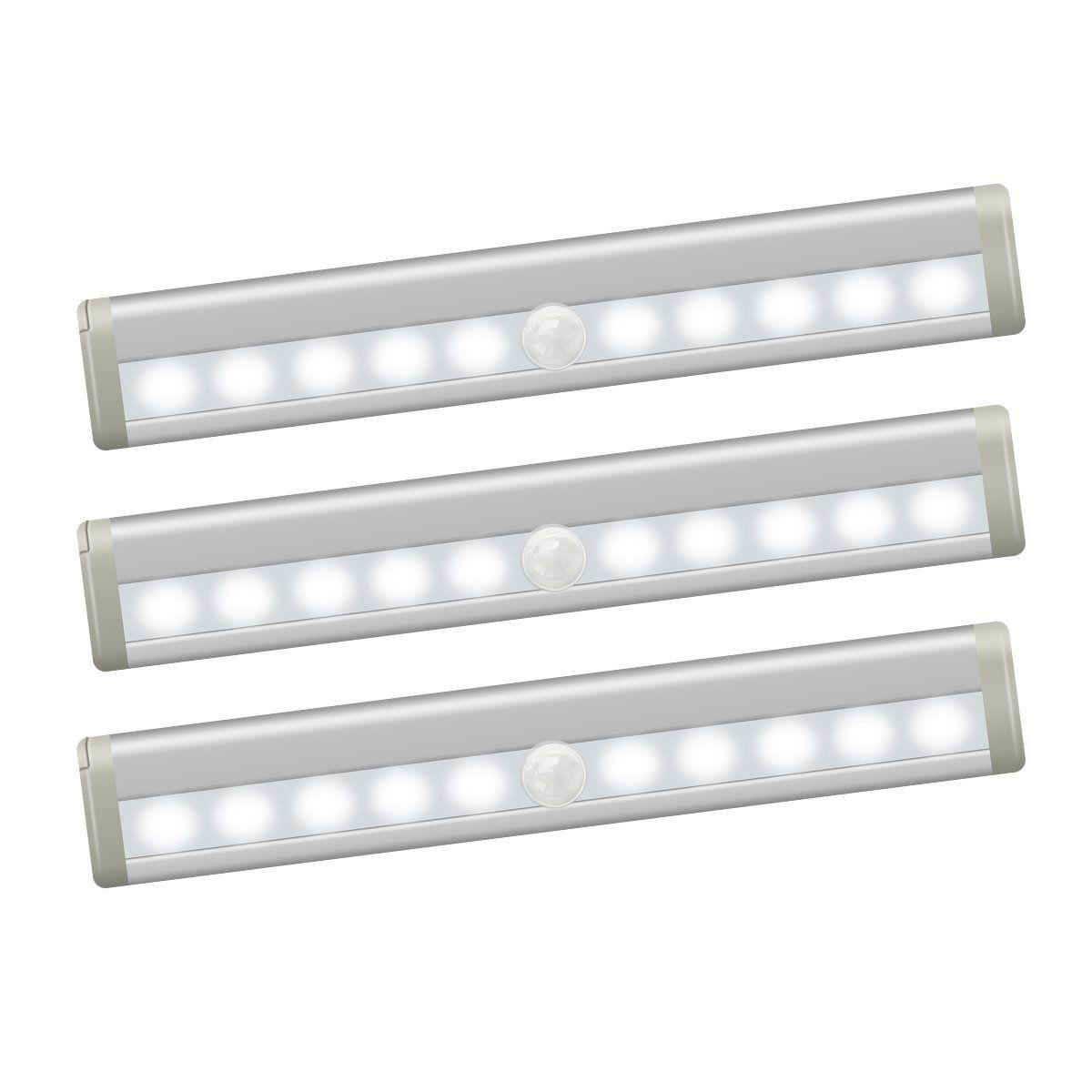 Closet Light, Motion Sensor Cabinet Light With Magnetic Strip Stick On  Anywhere Cordless LED Night