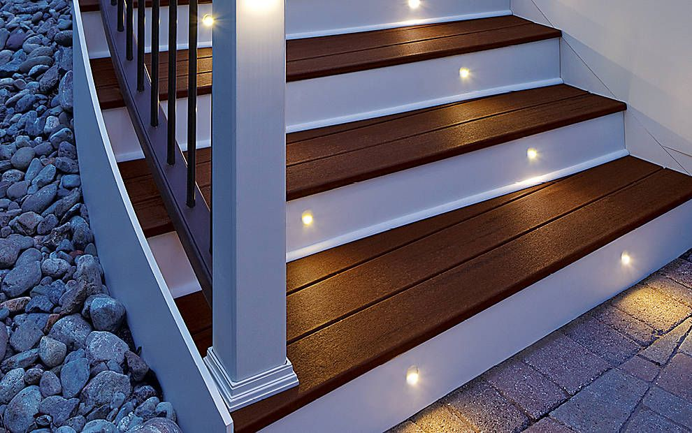 We Are Using The Led Step And Stair Lighting On The New Deck Deck Lighting Led Step Stair Lights Post Lights