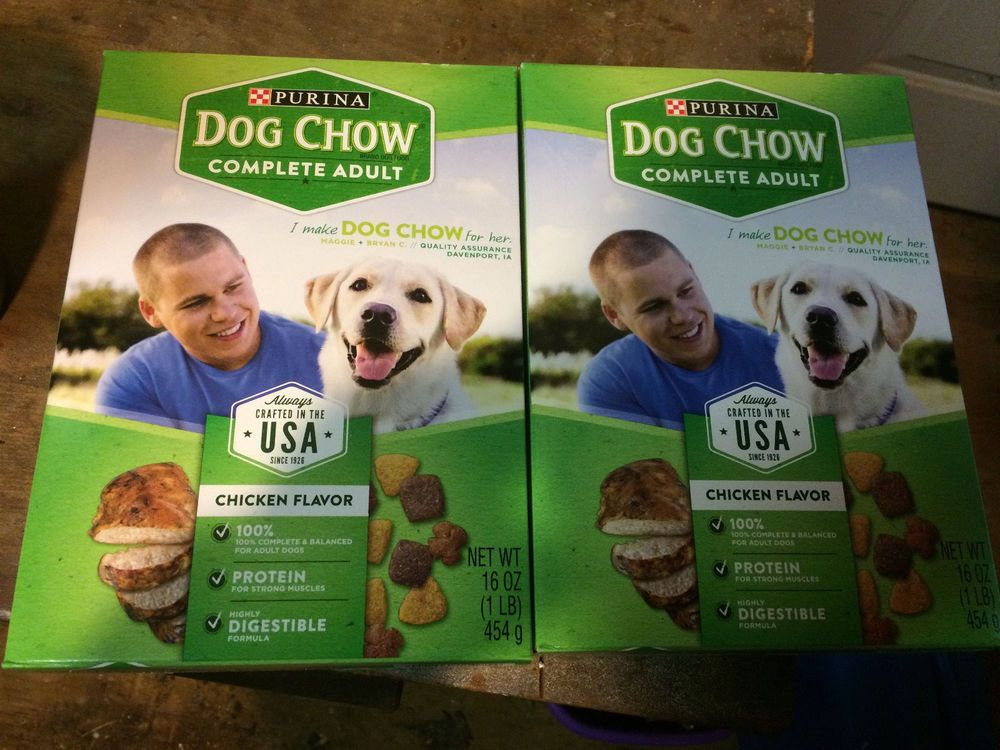 2 Boxes Purina Dog Chow Complete Adult Dog Food 16 Oz Each Purina