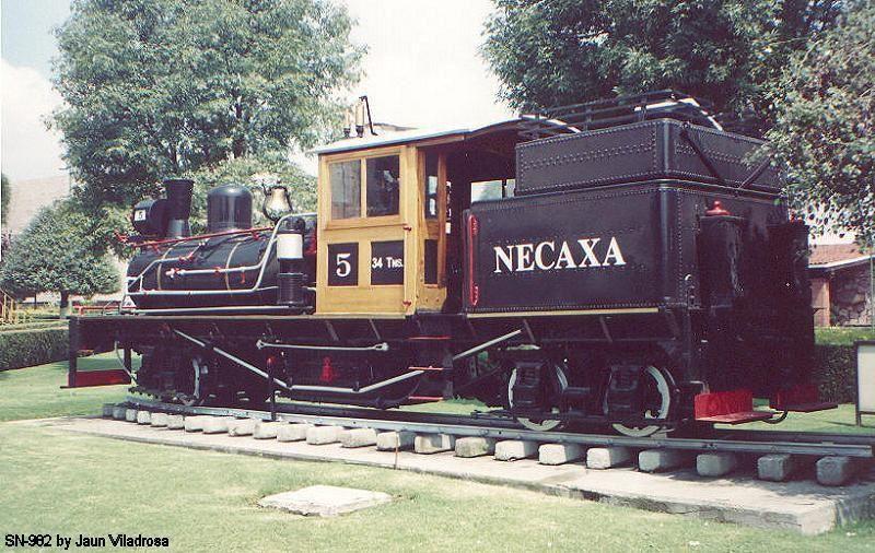 Locomotora Tipo Lima Marca Shay, mejor conocida como Toña la Negra o Necaxa 5.