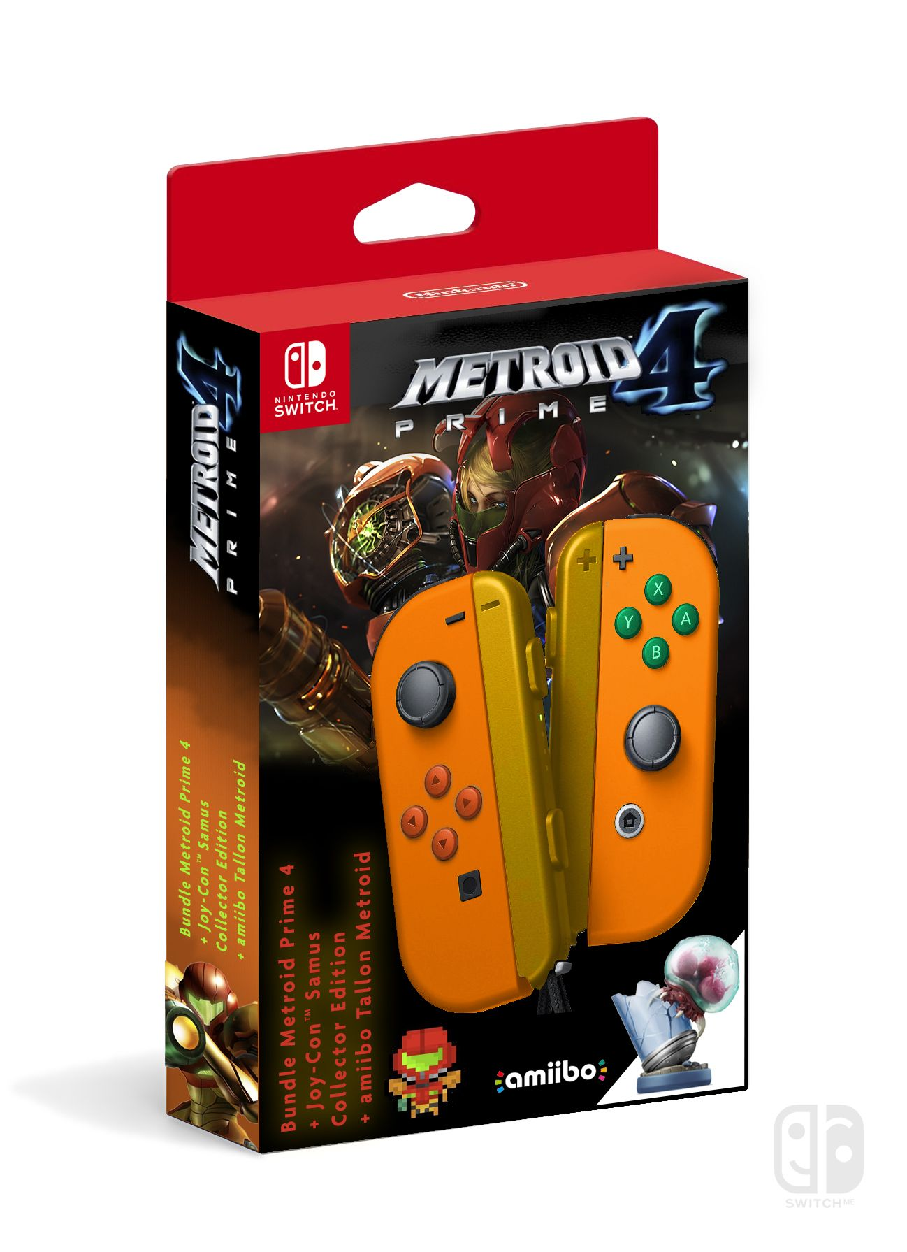 Joy-Con collector METROID PRIME 4 + game + amiibo, Nintendo