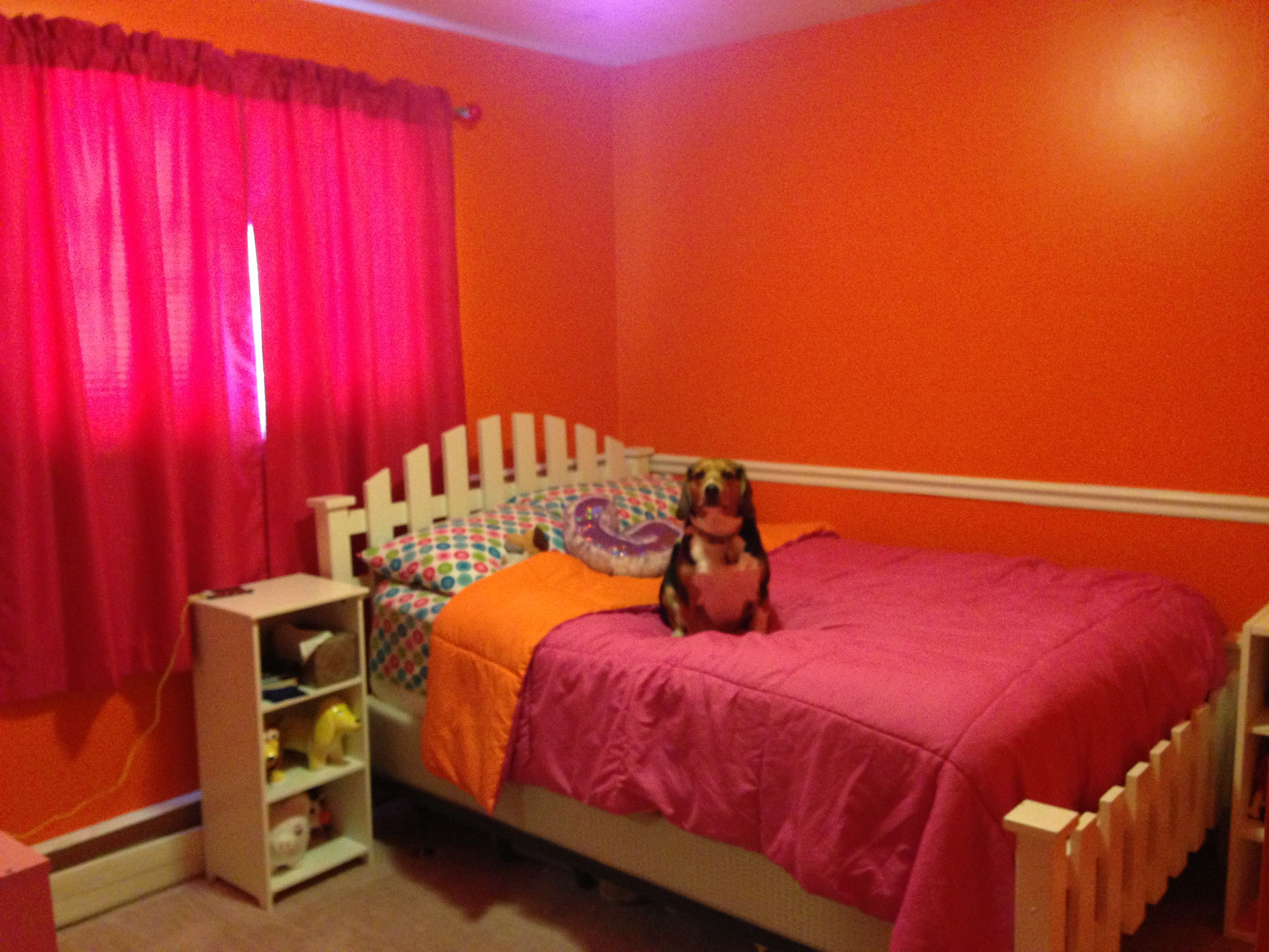 Orange And Pink Bedroom The Wall Color Is By Behr