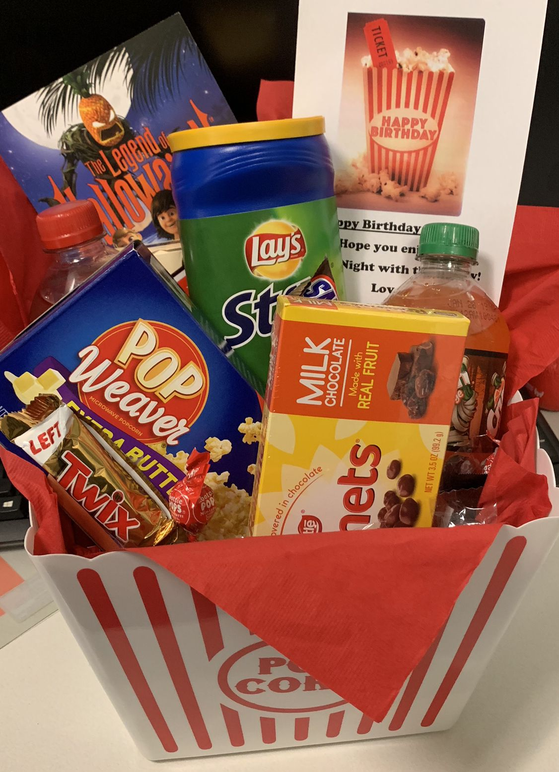 Inc Shared Shopping Cart Movie Night Gift Basket Movie Night Gift Movie Basket Gift
