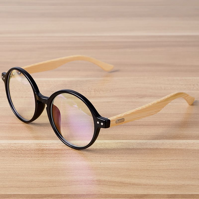 0907da8e713 Click to Buy    NOSSA Handmade Bamboo Vintage Round Glasses Frame Women Men