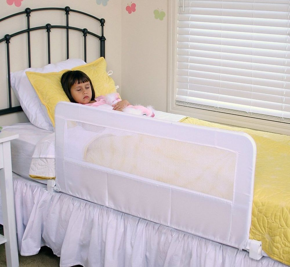 Bed rail safety guard white regalo toddler away hide child