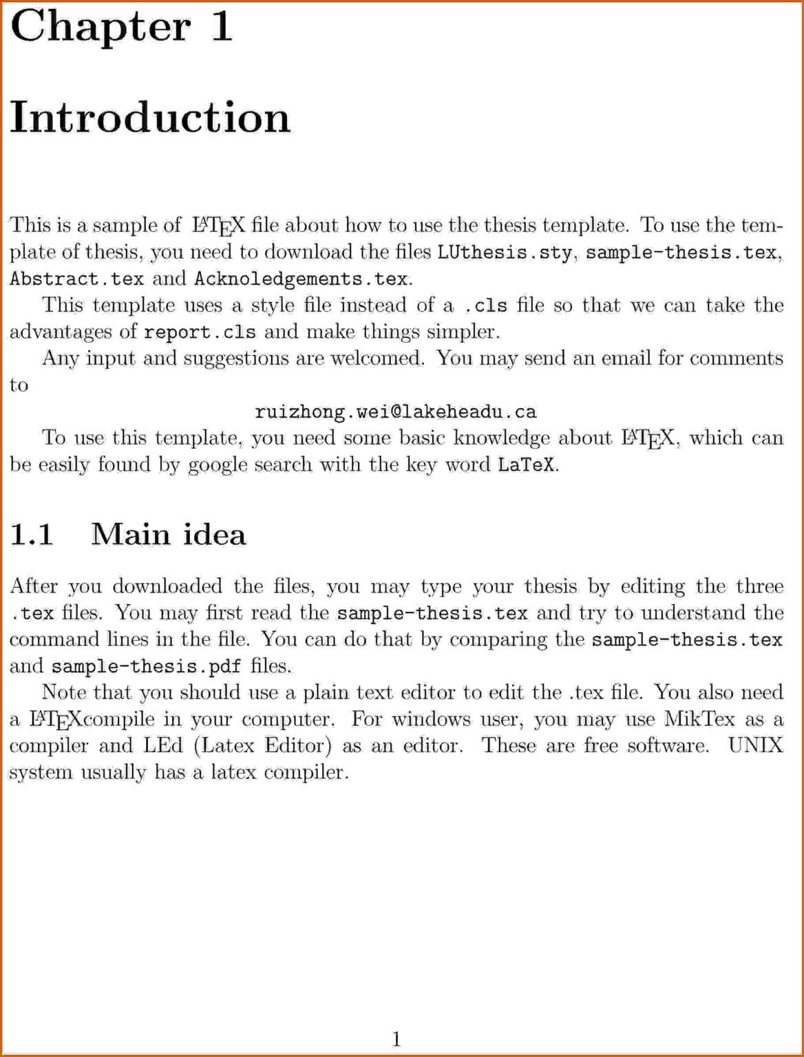 Example Of Introduction In Report