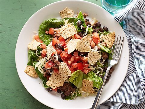 Beef Taco Salad : Ellie's taco salad has half the calories and fat of the fast-food variety.