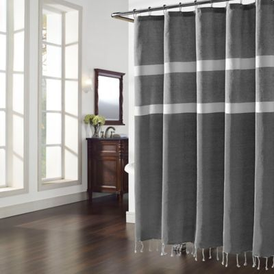 Inspired By The Designs From Luxurious Turkish Bath House The Turk Shower Curtain From Charisma Black Shower Curtains Curtains Farmhouse Bathroom Accessories