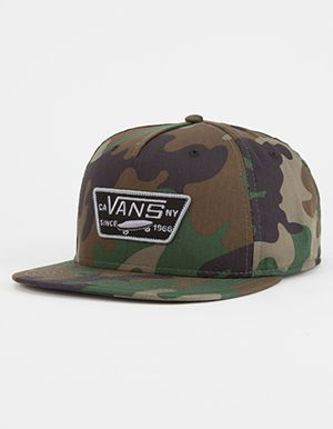 9359dfeab02 VANS Full Patch Mens Snapback Hat Green