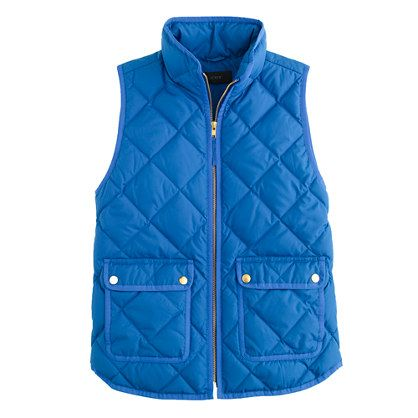 Excursion quilted vest - wool & puffer jackets - Women's outerwear & blazers - J.Crew