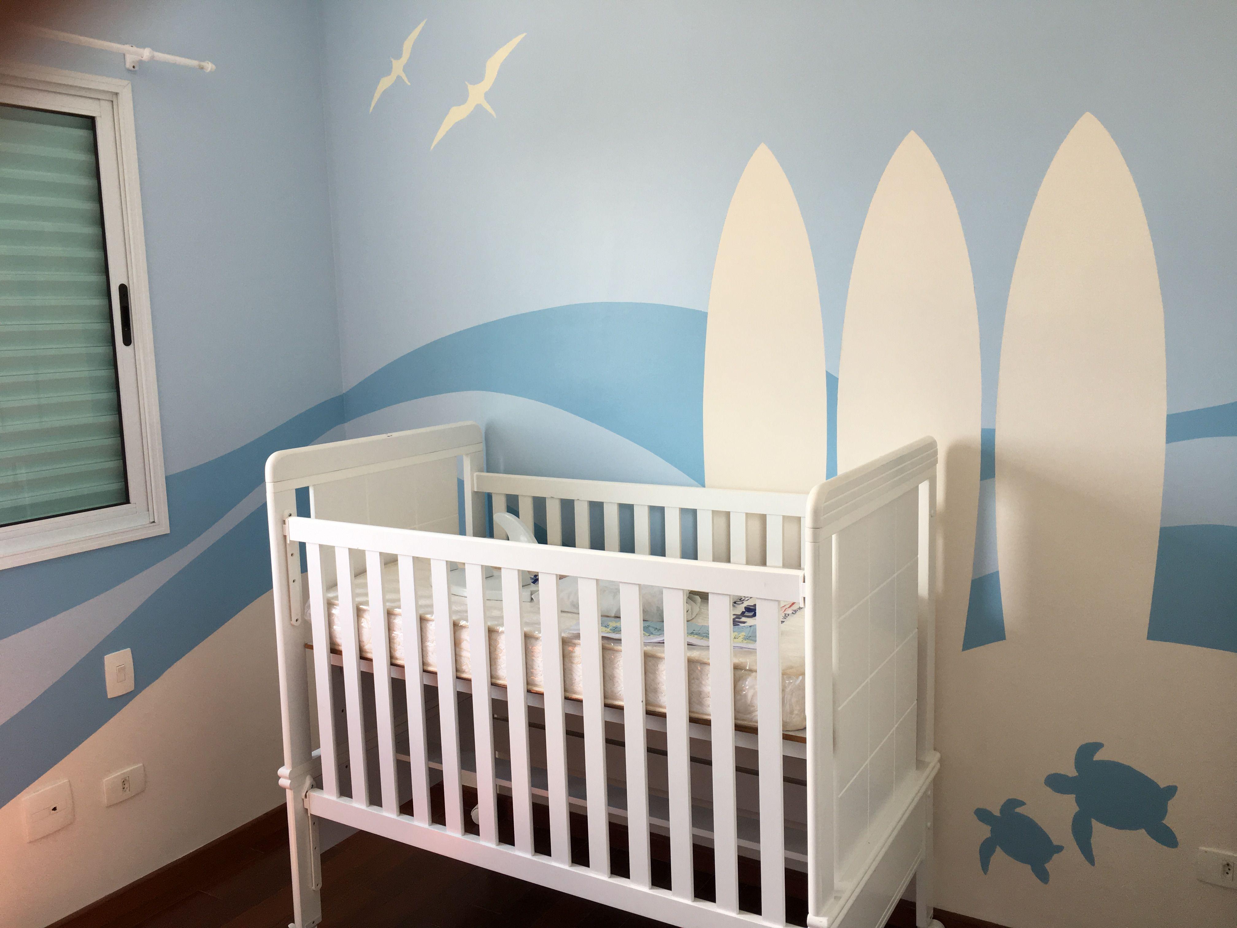 Surf Baby Wall * Quarto De Bebê Surfista #Estudio PLEK RJ