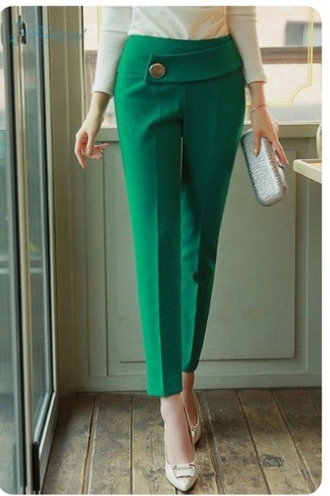 Pin De Maria Victoria En Pantalones Pantalones Elegantes Para Mujer Pantalones De Moda Pantalon De Tela Mujer