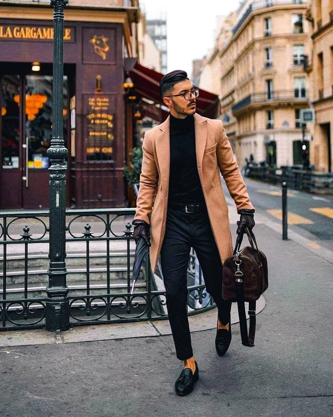 Handsome Man Photo Handsome Man Walking Handsome Man Autumn Man Brown Coat Man Style Photo Mens Fashion Fashion Handsome Men