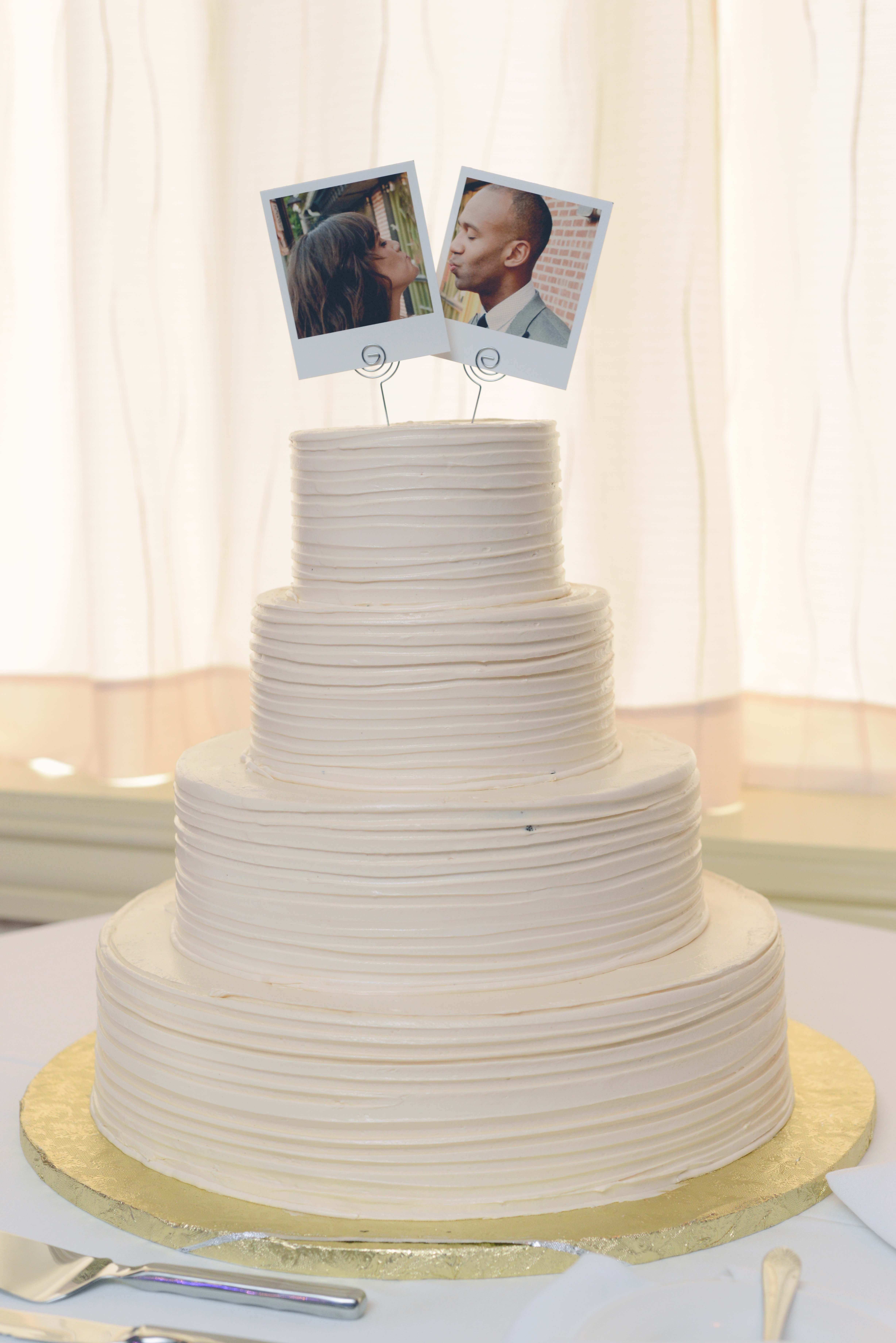 Polaroid Wedding Cake Topper Polaroid Topper Porter and Reel