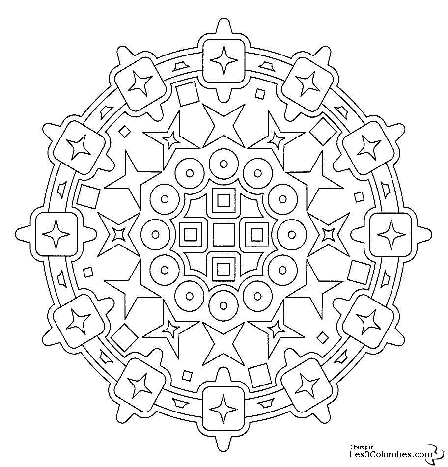 coloriage mandala 36