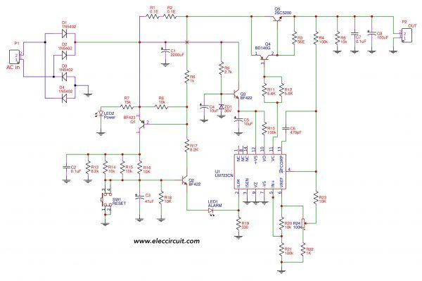 variable power supply circuit, 0 50v at 3a with pcb eleccircuitvariable power supply circuit, 0 50v at 3a with pcb eleccircuit com