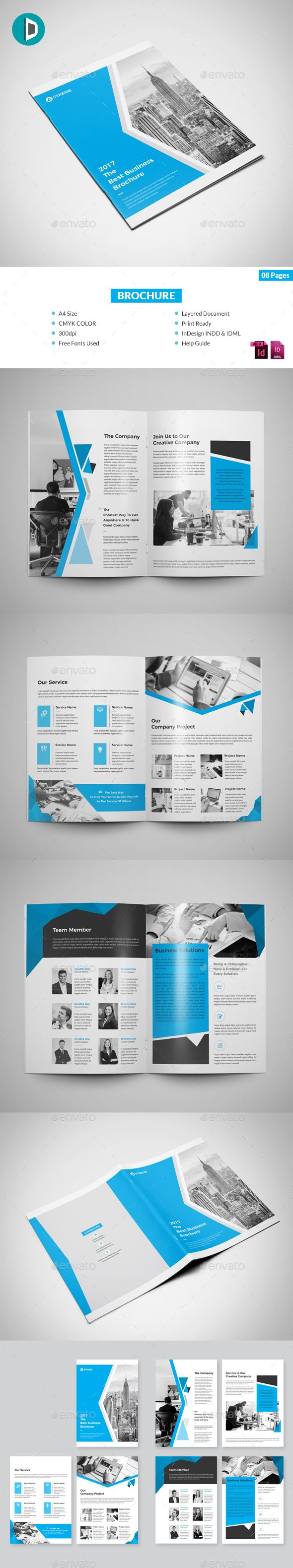8 page brochure template indesign indd brochure templates