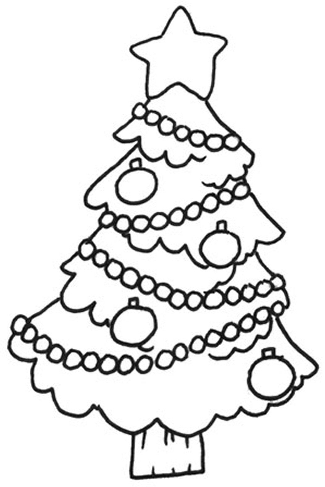 Christmas Tree Coloring Free printable | Chidren Coloring Pages ...