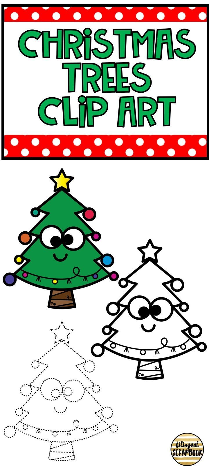 Christmas Trees (Clip Art for Personal & Commercial Use) | Clip art